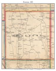 Freetown, New York 1855 Old Town Map Custom Print - Cortland Co.