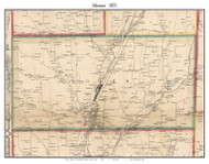 Homer, New York 1855 Old Town Map Custom Print - Cortland Co.