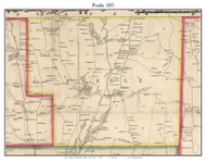 Preble, New York 1855 Old Town Map Custom Print - Cortland Co.
