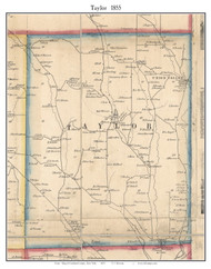 Taylor, New York 1855 Old Town Map Custom Print - Cortland Co.