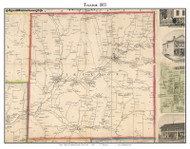 Truxton, New York 1855 Old Town Map Custom Print - Cortland Co.