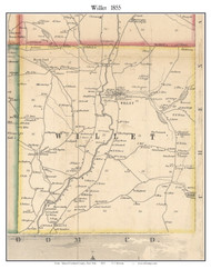 Willet, New York 1855 Old Town Map Custom Print - Cortland Co.