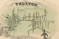 Truxton Village, New York 1855 Old Town Map Custom Print - Cortland Co.