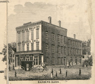 Barbers Block, New York 1855 Old Town Map Custom Print - Cortland Co.