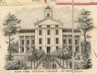Central College, New York 1855 Old Town Map Custom Print - Cortland Co.