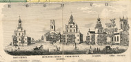 Churches, New York 1855 Old Town Map Custom Print - Cortland Co.