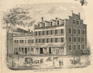 Dayton Block, New York 1855 Old Town Map Custom Print - Cortland Co.