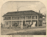 Hotel Sperry, New York 1855 Old Town Map Custom Print - Cortland Co.