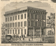 Peck & Burhans Building, New York 1855 Old Town Map Custom Print - Cortland Co.