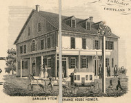 Samsons Temperance House, New York 1855 Old Town Map Custom Print - Cortland Co.