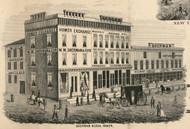 Sherman Block, New York 1855 Old Town Map Custom Print - Cortland Co.