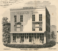 Wheadon's Hall, New York 1855 Old Town Map Custom Print - Cortland Co.