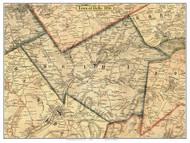 Delhi, New York 1856 Old Town Map Custom Print - Delaware Co.