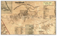 Franklin and Croton, New York 1856 Old Town Map Custom Print - Delaware Co.