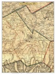Hamden, New York 1856 Old Town Map Custom Print - Delaware Co.