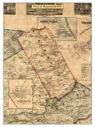 Harpersfield, New York 1856 Old Town Map Custom Print - Delaware Co.