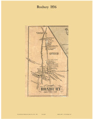 Roxbury Village, New York 1856 Old Town Map Custom Print - Delaware Co.