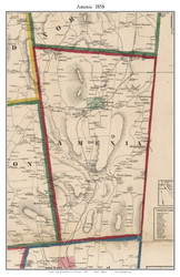 Amenia, New York 1858 Old Town Map Custom Print - Dutchess Co.