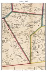 Beekman, New York 1858 Old Town Map Custom Print - Dutchess Co.
