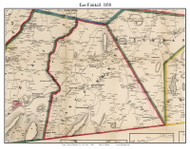 East Fishkill, New York 1858 Old Town Map Custom Print - Dutchess Co.