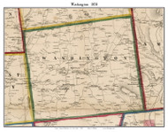 Washington, New York 1858 Old Town Map Custom Print - Dutchess Co.