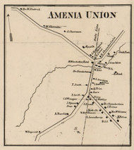 Amenia Union, New York 1858 Old Town Map Custom Print - Dutchess Co.