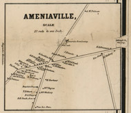 Ameniaville, New York 1858 Old Town Map Custom Print - Dutchess Co.