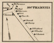South Amenia, New York 1858 Old Town Map Custom Print - Dutchess Co.