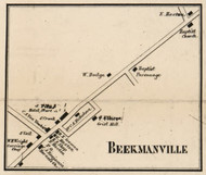 Beekmanville, New York 1858 Old Town Map Custom Print - Dutchess Co.