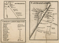 Carthage Landing, New York 1858 Old Town Map Custom Print - Dutchess Co.