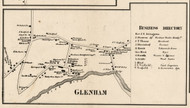 Glenham, New York 1858 Old Town Map Custom Print - Dutchess Co.