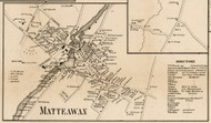 Matteawan, New York 1858 Old Town Map Custom Print - Dutchess Co.