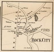 Rock City, New York 1858 Old Town Map Custom Print - Dutchess Co.
