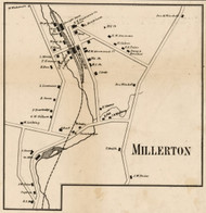 Millerton, New York 1858 Old Town Map Custom Print - Dutchess Co.