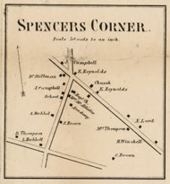Spencers Corner, New York 1858 Old Town Map Custom Print - Dutchess Co.