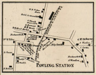 Pawling Station, New York 1858 Old Town Map Custom Print - Dutchess Co.