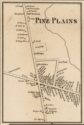 Pine Plains Village, New York 1858 Old Town Map Custom Print - Dutchess Co.