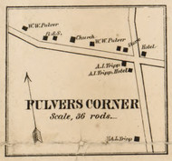 Pulvers Corner, New York 1858 Old Town Map Custom Print - Dutchess Co.