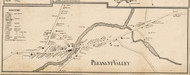 Pleasant Valley Village, New York 1858 Old Town Map Custom Print - Dutchess Co.