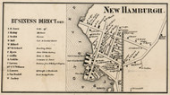 New Hamburgh, New York 1858 Old Town Map Custom Print - Dutchess Co.