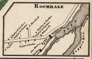 Rochdale, New York 1858 Old Town Map Custom Print - Dutchess Co.
