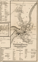 Wappingers Falls and Channingville , New York 1858 Old Town Map Custom Print - Dutchess Co.