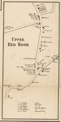 Upper Red Hook, New York 1858 Old Town Map Custom Print - Dutchess Co.