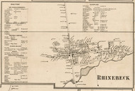 Rhinebeck Village, New York 1858 Old Town Map Custom Print - Dutchess Co.