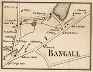 Bangall, New York 1858 Old Town Map Custom Print - Dutchess Co.