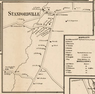 Stanfordville, New York 1858 Old Town Map Custom Print - Dutchess Co.