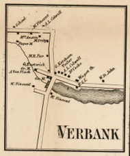 Verbank, New York 1858 Old Town Map Custom Print - Dutchess Co.