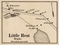 Little Rest, New York 1858 Old Town Map Custom Print - Dutchess Co.