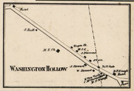 Washington Hollow, New York 1858 Old Town Map Custom Print - Dutchess Co.