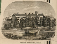 Amenia Seminary, New York 1858 Old Town Map Custom Print - Dutchess Co.